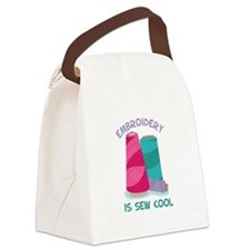 Embroidery Is Sew Cool Canvas Lunch Bag