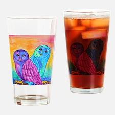 Rainbow Owls by Vanessa Curtis Drinking Glass