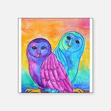 Rainbow Owls by Vanessa Curtis Sticker