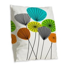 Unique Dandelion plant Burlap Throw Pillow
