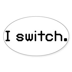 I switch Oval Decal