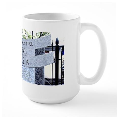 Korean War Memorial, Natick, Large Mug