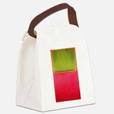 ROTHKO GREEN AND HOT PINK Canvas Lunch Bag