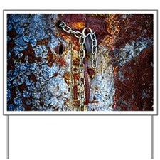 Chained Rust Yard Sign