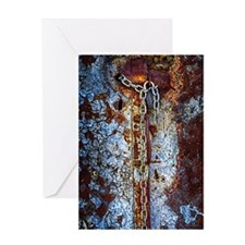 Chained Rust Greeting Card