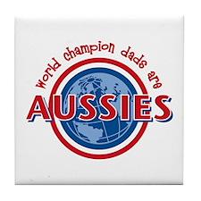 Aussie Dads Tile Coaster