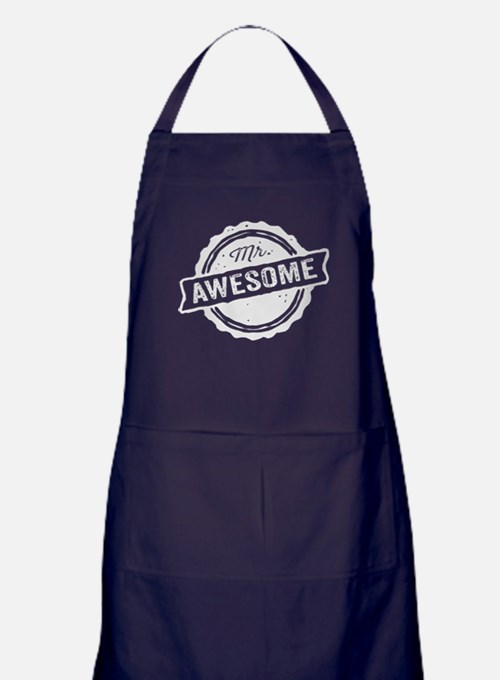 Mr. Awesome Apron (dark)