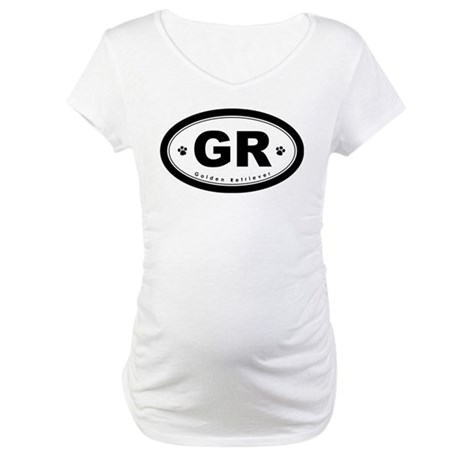 GR Golden Retriever Maternity T-Shirt