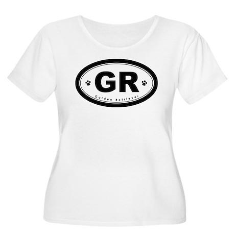 GR Golden Retriever Women's Plus Size Scoop Neck T