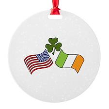 American Irish Flag Ornament