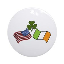 American Irish Flag Ornament (Round)