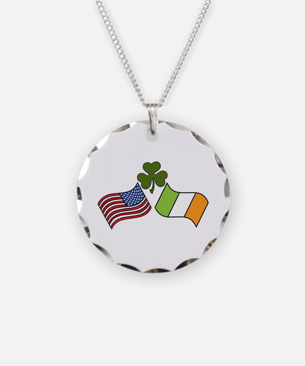 American Irish Flag Necklace