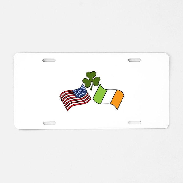 American Irish Flag Aluminum License Plate