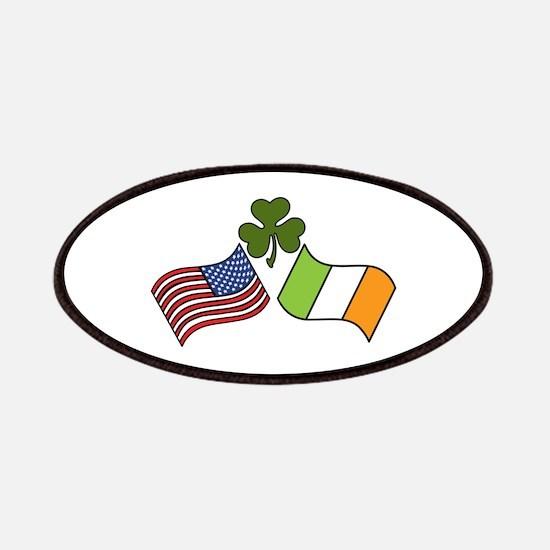 American Irish Flag Patches