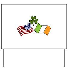American Irish Flag Yard Sign