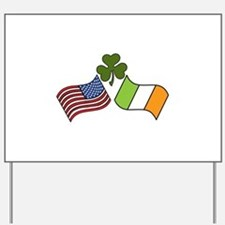 American Irish Flag Yard Sign