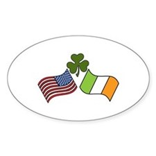 American Irish Flag Decal