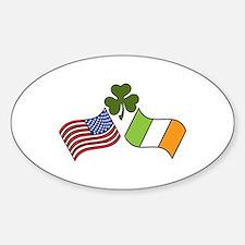 American Irish Flag Decal