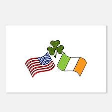 American Irish Flag Postcards (Package of 8)