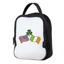 American Irish Flag Neoprene Lunch Bag