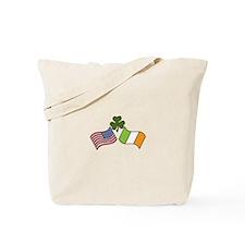 American Irish Flag Tote Bag