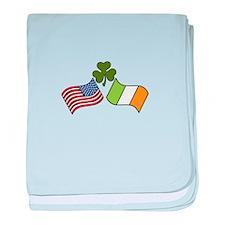 American Irish Flag baby blanket
