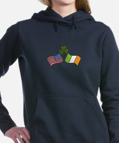 American Irish Flag Women's Hooded Sweatshirt