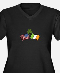American Irish Flag Plus Size T-Shirt