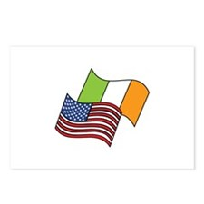 Irish American Flag Postcards (Package of 8)