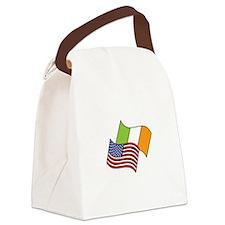 Irish American Flag Canvas Lunch Bag