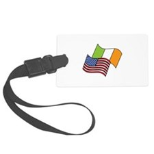 Irish American Flag Luggage Tag