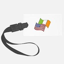 Irish American Flag Luggage Tag