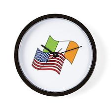 Irish American Flag Wall Clock