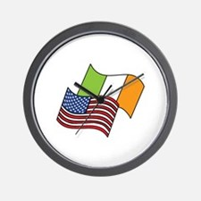 Irish American Flag Wall Clock