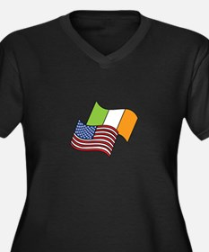 Irish American Flag Plus Size T-Shirt