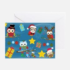 Christmas Owls Greeting Cards