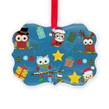 Christmas Owls Ornament