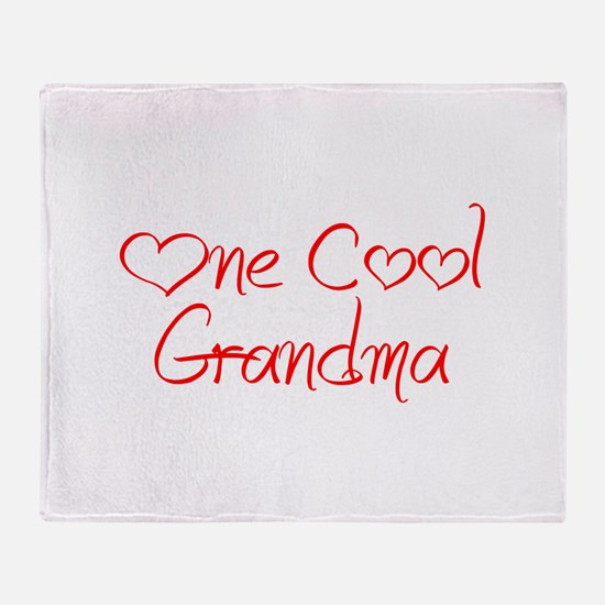 one-cool-grandma-jel-red Throw Blanket