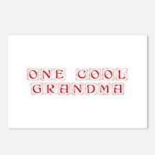 one-cool-grandma-KON-RED Postcards (Package of 8)