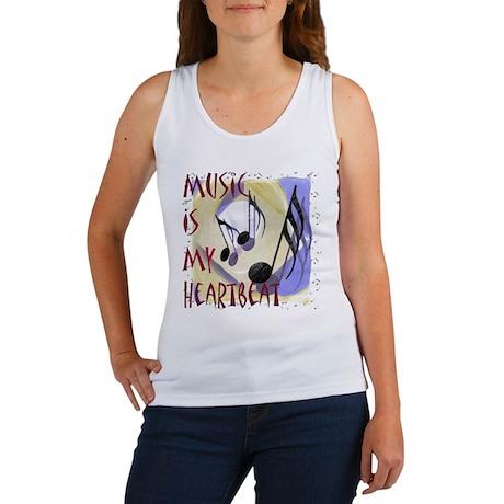 Music is My Heartbeat Women's Tank Top