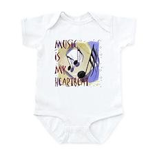 Music is My Heartbeat Infant Bodysuit