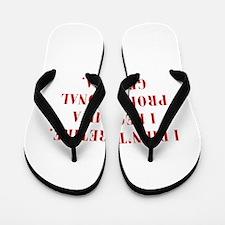 professional-grandma-bod-red Flip Flops