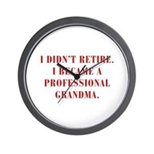 professional-grandma-bod-red Wall Clock