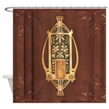 art nouveau booklet Shower Curtain