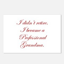 professional-grandma-edw-red Postcards (Package of