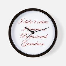 professional-grandma-edw-red Wall Clock