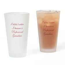professional-grandma-edw-red Drinking Glass