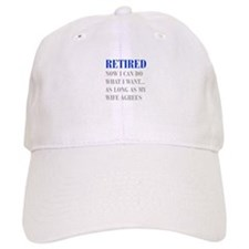 retired-now-I-can-do-bod-blue-gray Baseball Baseball Cap