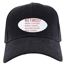 retired-now-I-can-do-opt-red Baseball Hat