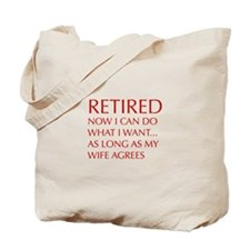 retired-now-I-can-do-opt-red Tote Bag